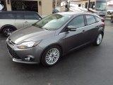 2014 Sterling Gray Ford Focus Titanium Hatchback #110988488