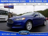 2016 Deep Impact Blue Metallic Ford Fusion SE #110988207
