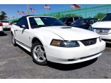 2001 Oxford White Ford Mustang V6 Convertible #111034328
