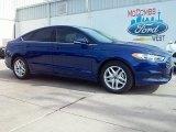 2016 Deep Impact Blue Metallic Ford Fusion SE #111066088