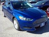 2016 Deep Impact Blue Metallic Ford Fusion SE #111066073