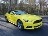 2016 Triple Yellow Tricoat Ford Mustang V6 Convertible #111130994