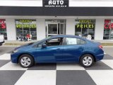 2015 Dyno Blue Pearl Honda Civic LX Sedan #111184332
