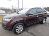 2011 Dark Cherry Kia Sorento LX AWD #111213590