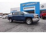 2016 Deep Ocean Blue Metallic Chevrolet Silverado 1500 LT Crew Cab #111280576
