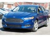 2016 Deep Impact Blue Metallic Ford Fusion S #111328423