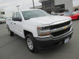 2016 Summit White Chevrolet Silverado 1500 WT Double Cab 4x4 #111389417