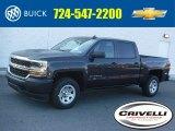 2016 Tungsten Metallic Chevrolet Silverado 1500 WT Crew Cab 4x4 #111428571