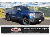 2016 Blazing Blue Pearl Toyota Tundra Limited CrewMax 4x4 #111461826