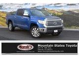 2016 Blazing Blue Pearl Toyota Tundra Limited CrewMax 4x4 #111461815