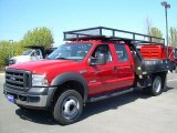 2007 Red Ford F550 Super Duty XL Crew Cab Commercial #11132910