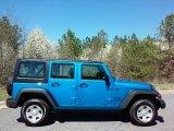 2016 Hydro Blue Pearl Jeep Wrangler Unlimited Sport 4x4 RHD #111543960