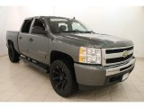 2011 Steel Green Metallic Chevrolet Silverado 1500 Crew Cab 4x4 #111544288