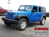 2016 Hydro Blue Pearl Jeep Wrangler Unlimited Sport 4x4 #111597665
