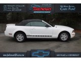 2007 Performance White Ford Mustang V6 Deluxe Convertible #111661115