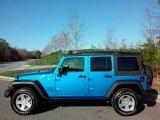 2016 Hydro Blue Pearl Jeep Wrangler Unlimited Sport 4x4 #111687059