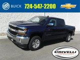 2016 Deep Ocean Blue Metallic Chevrolet Silverado 1500 LT Crew Cab 4x4 #111708432