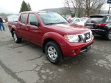 2013 Lava Red Nissan Frontier SV V6 Crew Cab 4x4 #111809144