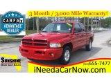 2001 Flame Red Dodge Ram 1500 SLT Club Cab #111809004