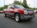 2005 Sport Red Metallic Chevrolet Silverado 1500 LT Extended Cab 4x4 #11169564