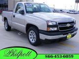 2006 Silver Birch Metallic Chevrolet Silverado 1500 LS Regular Cab #11172316