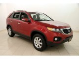 2011 Spicy Red Kia Sorento LX #111891695