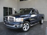 2007 Patriot Blue Pearl Dodge Ram 1500 SLT Quad Cab #11160130