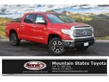 Radiant Red Toyota Tundra in 2016