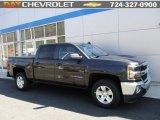 2016 Tungsten Metallic Chevrolet Silverado 1500 LT Crew Cab 4x4 #111927365