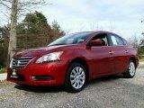 2014 Red Brick Nissan Sentra SV #111951552