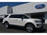 2016 White Platinum Metallic Tri-Coat Ford Explorer XLT #112068171