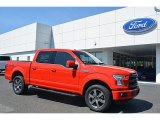 2016 Race Red Ford F150 Lariat SuperCrew 4x4 #112068168