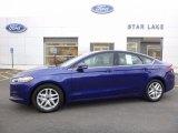 2016 Deep Impact Blue Metallic Ford Fusion SE #112068485