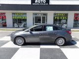 2014 Sterling Gray Ford Focus Titanium Sedan #112117672