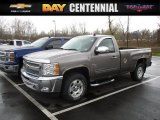 2013 Mocha Steel Metallic Chevrolet Silverado 1500 LT Regular Cab 4x4 #112149302