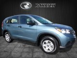 2014 Twilight Blue Metallic Honda CR-V LX AWD #112184825