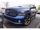 2014 Blue Streak Pearl Coat Ram 1500 Sport Crew Cab #112208461