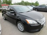 2014 Super Black Nissan Sentra S #112259860