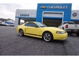 2003 Zinc Yellow Ford Mustang Mach 1 Coupe #112347792