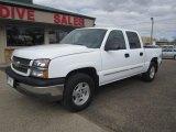 2004 Summit White Chevrolet Silverado 1500 LS Crew Cab 4x4 #112416189