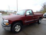 2002 Dark Carmine Red Metallic Chevrolet Silverado 1500 LS Regular Cab 4x4 #112416007