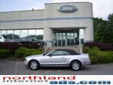 2007 Satin Silver Metallic Ford Mustang V6 Deluxe Convertible #11208568