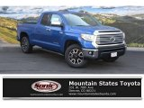 2016 Blazing Blue Pearl Toyota Tundra Limited Double Cab 4x4 #112452246