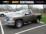 2013 Mocha Steel Metallic Chevrolet Silverado 1500 Work Truck Regular Cab #112452401