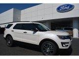 2016 White Platinum Metallic Tri-Coat Ford Explorer Sport 4WD #112523301