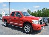 2007 Inferno Red Crystal Pearl Dodge Ram 1500 Laramie Quad Cab 4x4 #112608850
