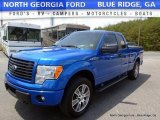2014 Blue Flame Ford F150 STX SuperCab 4x4 #112608700