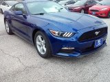 2016 Deep Impact Blue Metallic Ford Mustang V6 Coupe #112632702