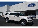 2016 White Platinum Metallic Tri-Coat Ford Explorer Limited 4WD #112694734