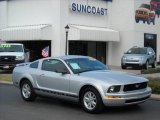 2005 Satin Silver Metallic Ford Mustang V6 Deluxe Coupe #1127263